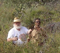 Curtis Gean (left), relocating orchids in Mexico