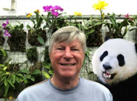 Ken Campbell and his pet panda